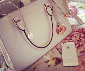 bag, iphone, and Michael Kors image