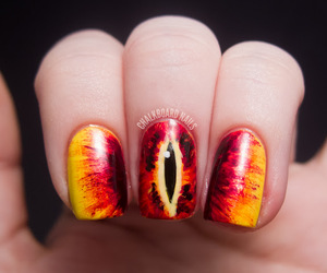 nails, eye, and LOTR image