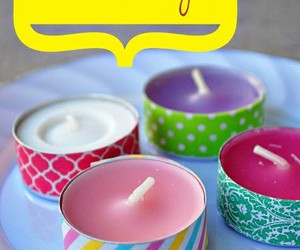 candle, diy, and Easy image