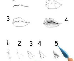 lips and drawing image
