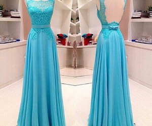 blue, dress, and cute image