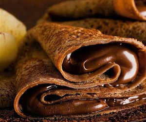chocolate, food, and pancakes image