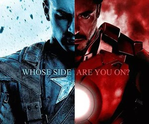 captain america, Marvel, and iron man image