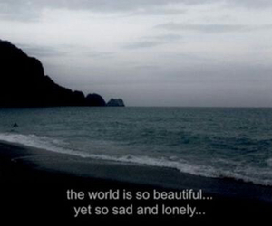 sad, beautiful, and lonely image