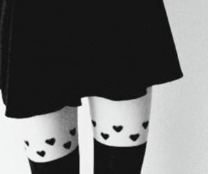 skirt, gif, and black and white image