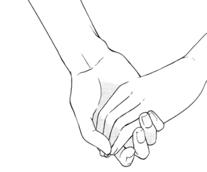 black, love, and hands image