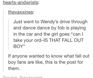 fall out boy, FOB, and food image