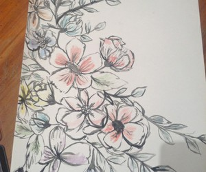 colors, draw, and flowers image
