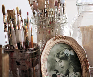 Brushes, vintage, and old image