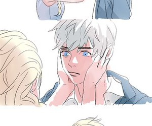 jelsa, jack frost, and kiss image