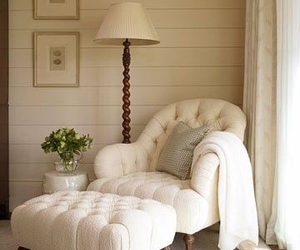 white, chair, and cozy image