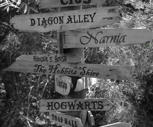 narnia, hogwarts, and harry potter image