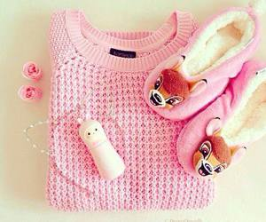pink, sweater, and bambi image