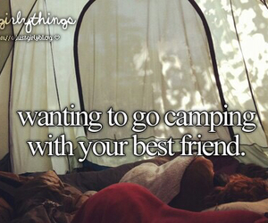 camping, best friends, and friends image