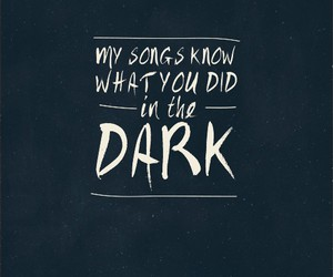 dark, music, and quote image