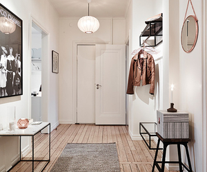 home, apartment, and hallway image
