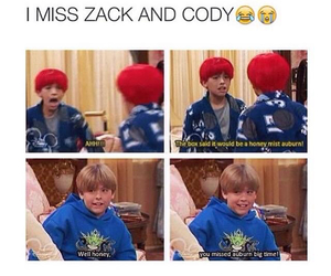 disney, funny, and zac and cody image