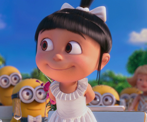 agnes, minions, and despicable me image