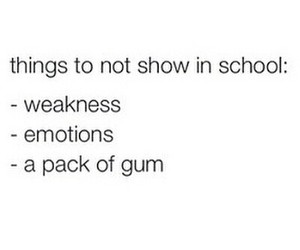 school, gum, and funny image