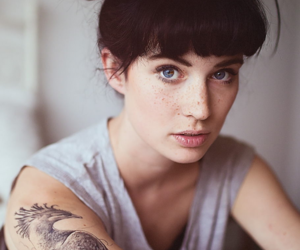 tattoo, girl, and freckles image