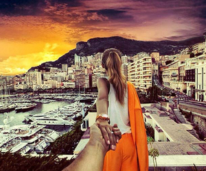 couple, travel, and monaco image