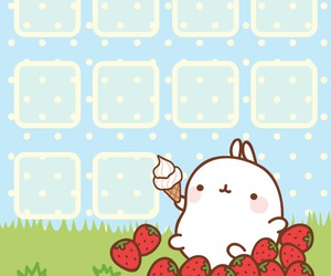 iphone wallpaper and cute rabbit image
