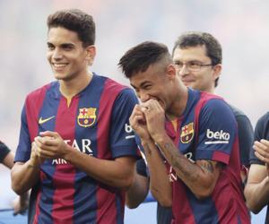 neymar, marc bartra, and Barcelona image