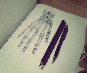 art, drawing, and hand image