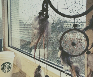 background, curtains, and rain image