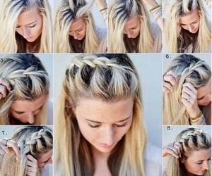 casual, hairstyle, and tutorial image