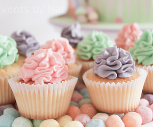 cupcake, pastel, and delicious image