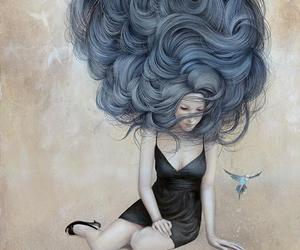 art, hair, and illustration image