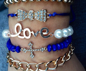 blue, love, and accessories image