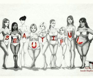 beautiful, woman, and body image