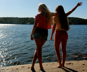 beach, best friends, and blond image