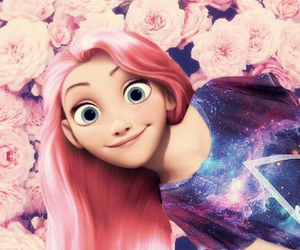 disney, pink, and rapunzel image