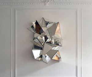 mirror, art, and white image