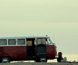 escape, beach, and van image
