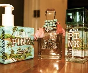 pink, perfume, and Aloha image