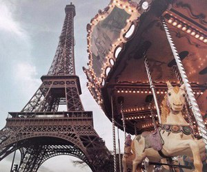 paris, carrousel, and eiffel tower image