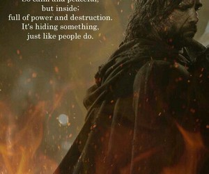 fire, game of thrones, and the hound image
