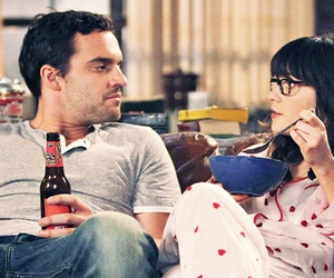 new girl, couple, and zooey deschanel image