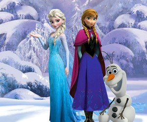 olaf, frozen, and elsa image