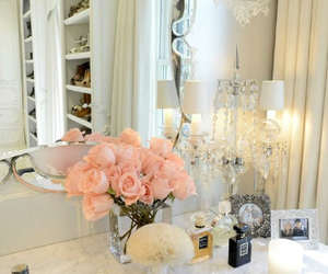 rose, flowers, and chanel image