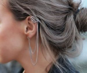 chain, ear cuff, and jewelry image