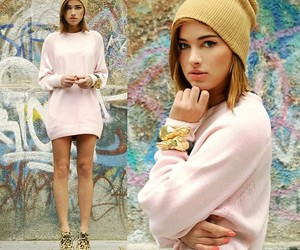 fashion, hat, and pink image