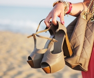 fashion, shoes, and beach image