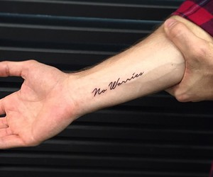 arm, tattoo, and words image