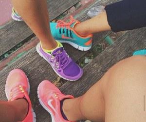 fun, friends, and nike image