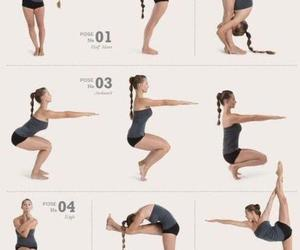 yoga, workout, and fitness image